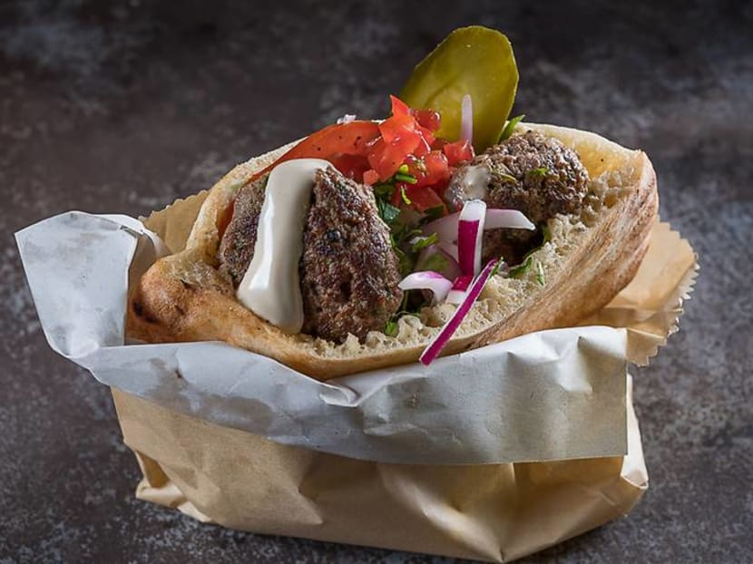 We try proper Israeli street food in Singapore: Stuffed pita with a MasterChef twist