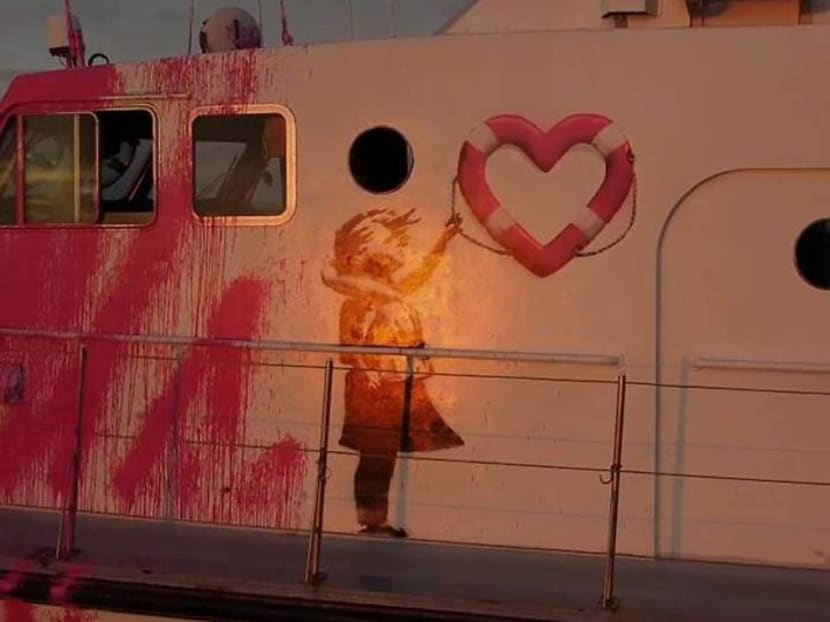 British street artist Banksy funds refugee rescue boat - The Guardian