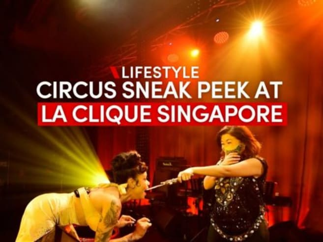 Sneak peek at La Clique's sexy circus acts in Singapore | CNA Lifestyle