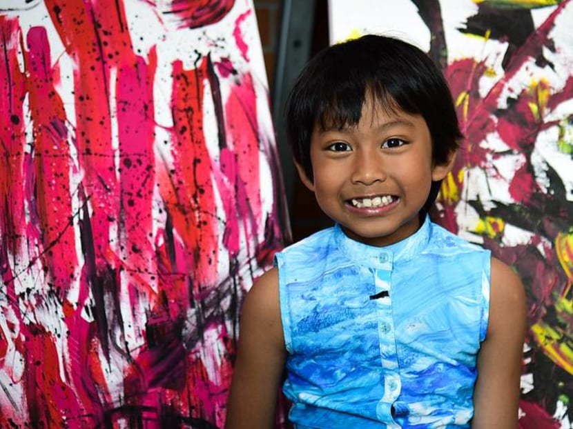 7-year-old Thai artist unleashes imagination through colourful fabric
