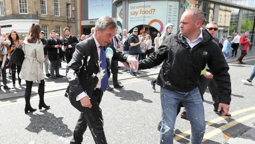 Milkshakes become weapon of choice in UK European campaign