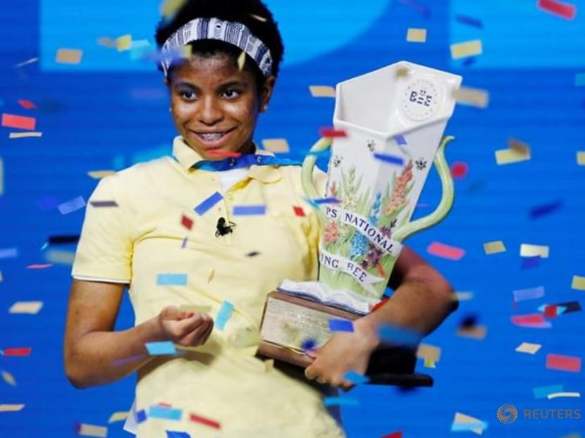 First African American wins US spelling bee, conquering with 'Murraya'