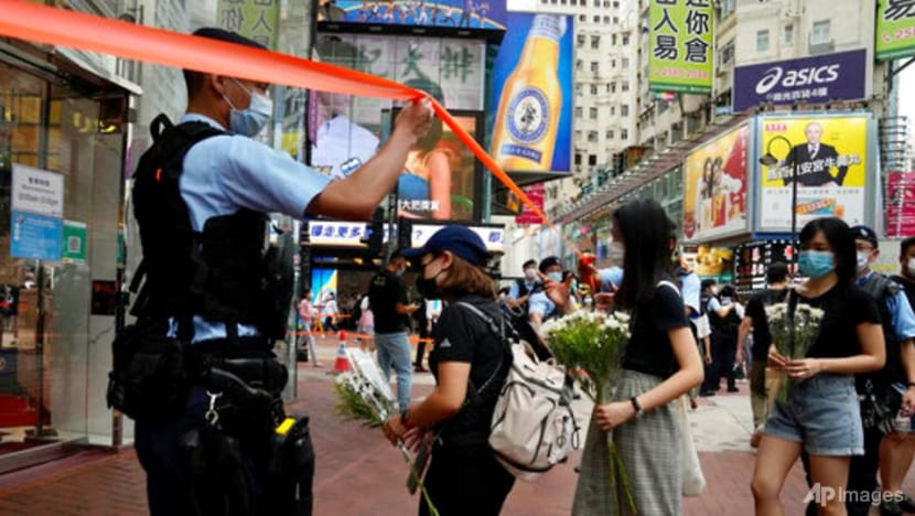 Hong Kong police warn residents against mourning man who stabbed police officer