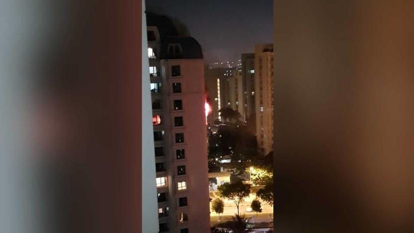 Fire breaks out at Aquarius by the Park condominium in Bedok