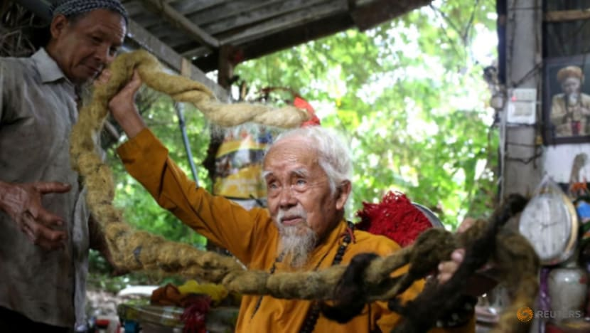 Vietnamese man with 5m hair says lifelong grow-out is divine calling