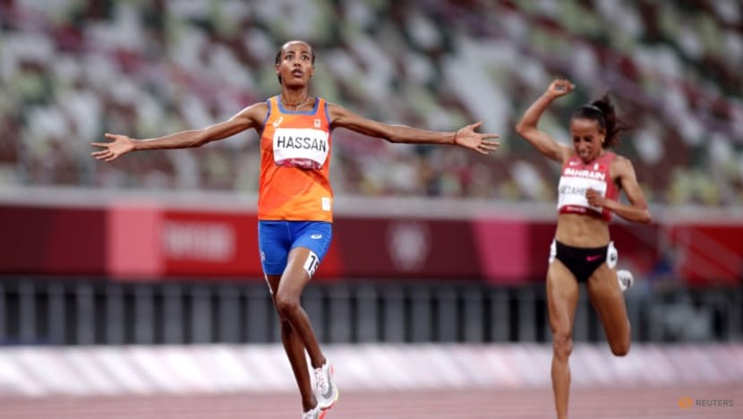 Olympics-Athletics-Hassan wins 10,000m gold for third Tokyo medal
