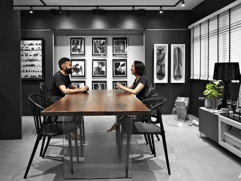 How a couple made room in their 990 sq ft HDB flat for a lot of art and a yoga studio