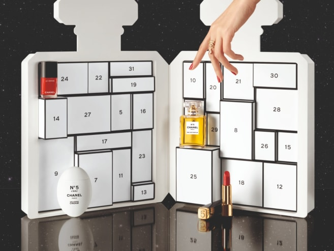 This S$1,150 advent calendar is shaped like a giant Chanel perfume bottle