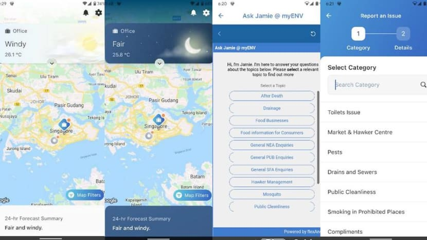 New version of myENV app launched, providing information on environment, water and food