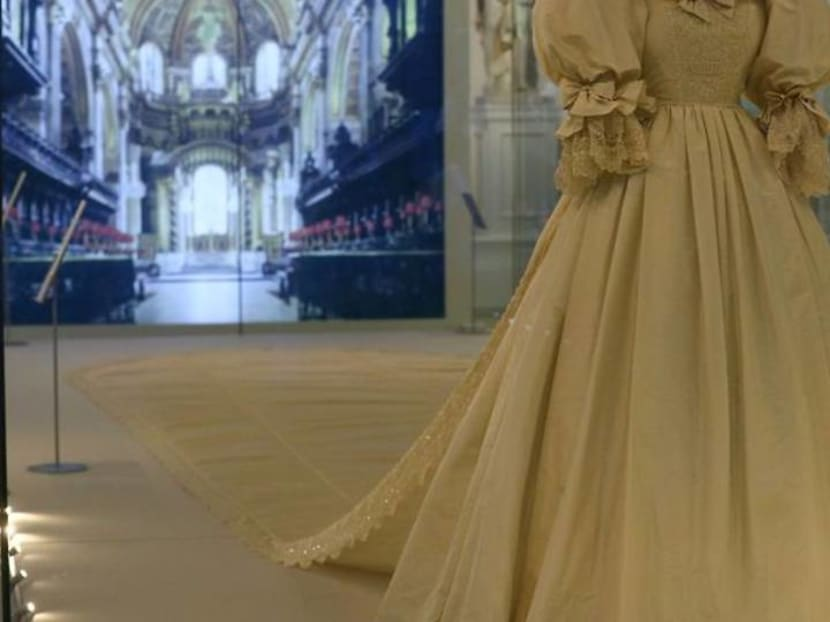 Royal frocks, including Diana wedding dress, on display in London