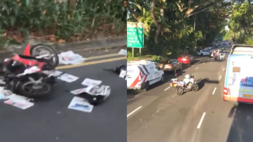 Elderly motorcyclist dies, SBS Transit bus driver arrested in Ang Mo Kio accident
