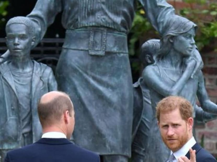 Britain's William and Harry put feud aside to unveil Princess Diana statue