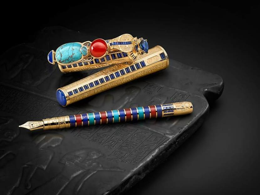 Write like an Egyptian: This pen collection is inspired by pharaohs and tombs