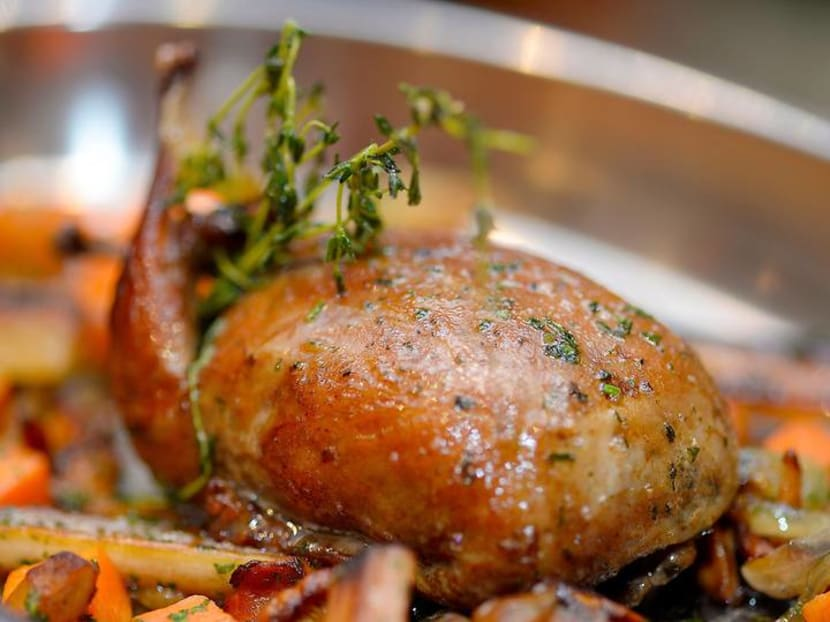 Miss Le Saint Julien at the Fullerton's Waterboat House? Its chef is back for a week