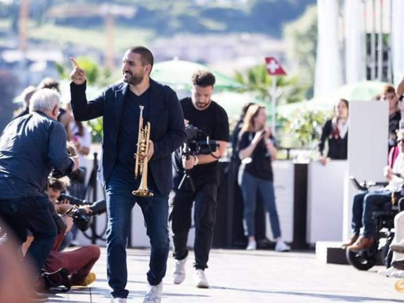 Swiss Alps, sailboats are 'magic' decor for Ibrahim Maalouf at Montreux Jazz Festival