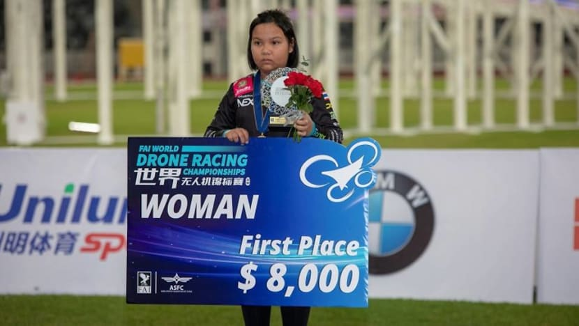 Thai girl, 11, wins world drone racing competition