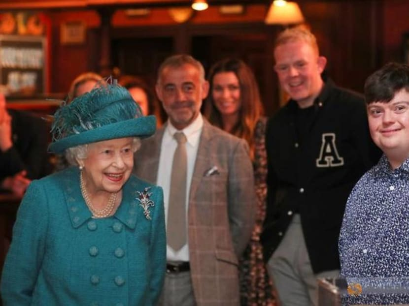 Queen Elizabeth visits record-breaking Coronation Street soap opera set