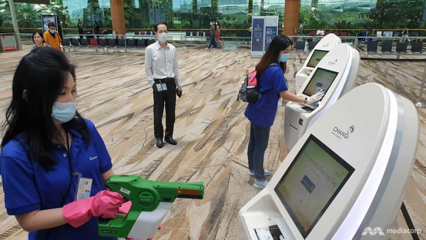 Changi Airport steps up cleaning, hygiene measures in light of COVID-19 concerns