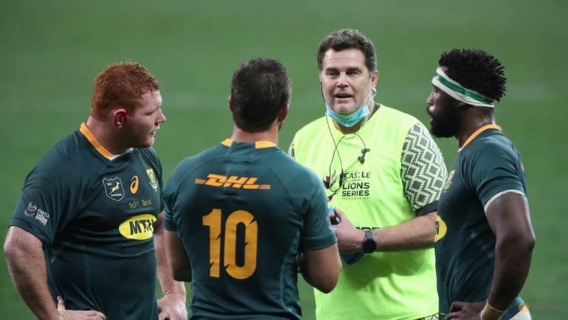 Rugby: Under-fire Erasmus won't travel to Australia with Boks