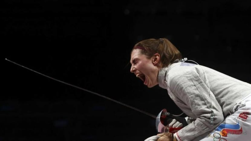 Olympics-Fencing-ROC win gold in women's team sabre
