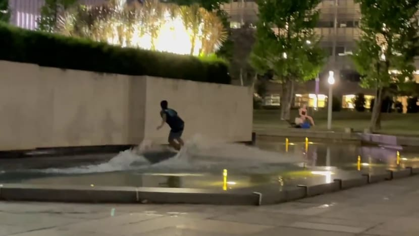 Man charged after allegedly wakeboarding at World War II memorial