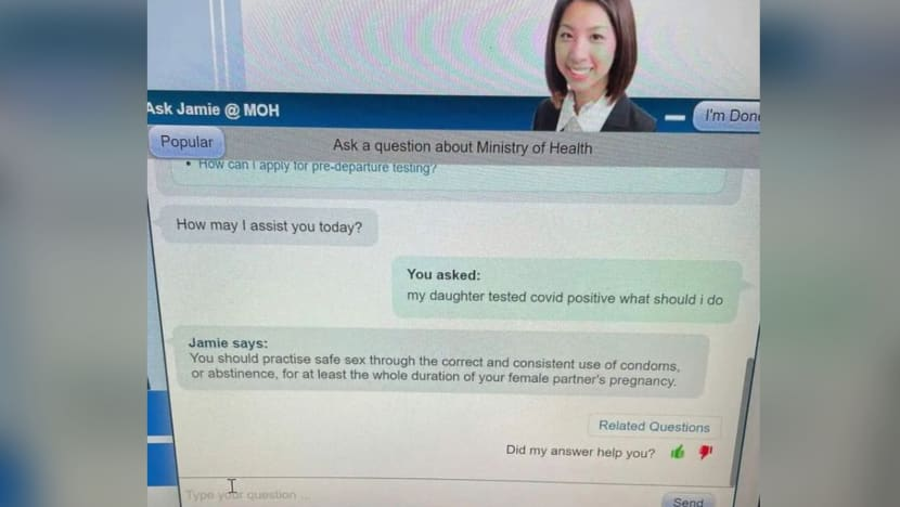 MOH temporarily disables Ask Jamie chatbot after 'misaligned replies'