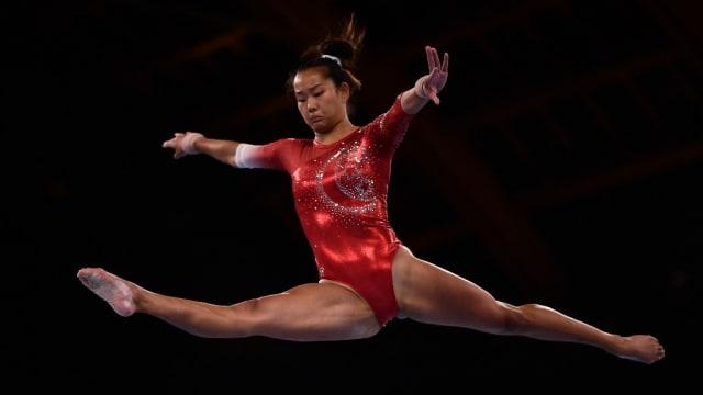 我国选手陈思恩亮相奥运体操赛 无缘晋级