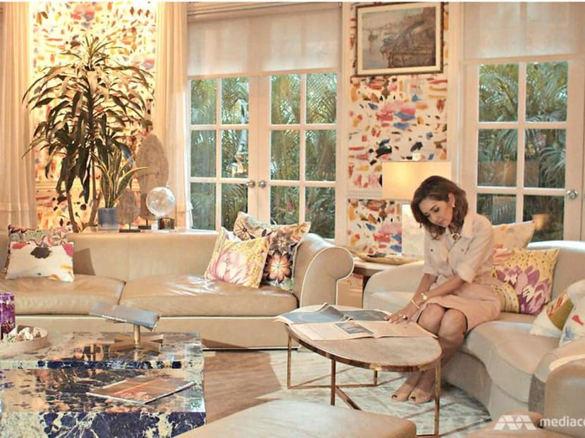 The Singapore-based interior designer who doesn't shy from colour or pattern