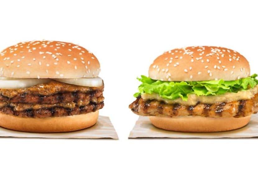 Rendang Beef and Hainanese Tendergrill Chicken burgers back at Burger King