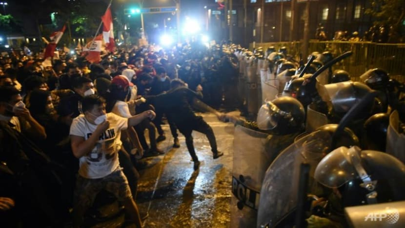 'Peru is fired up': Protesters, police clash as political crisis flares