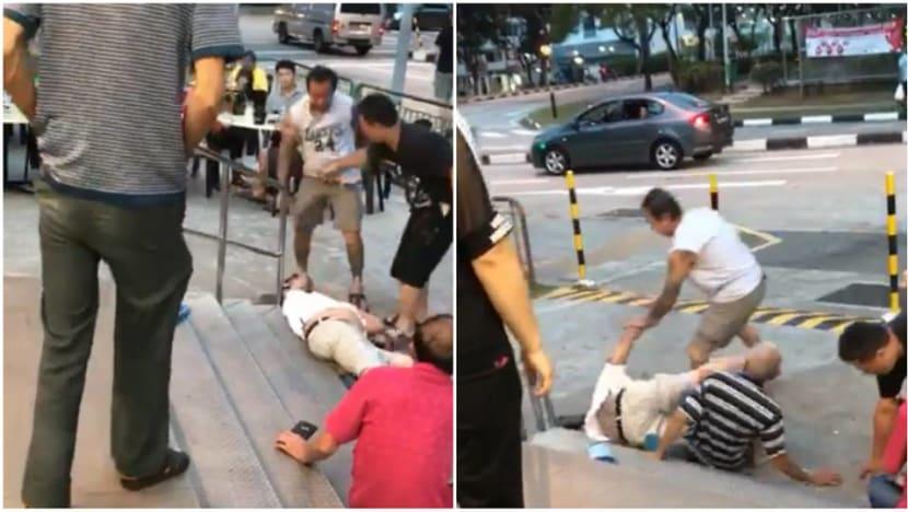 2 men arrested over knuckleduster brawl at Taman Jurong coffee shop