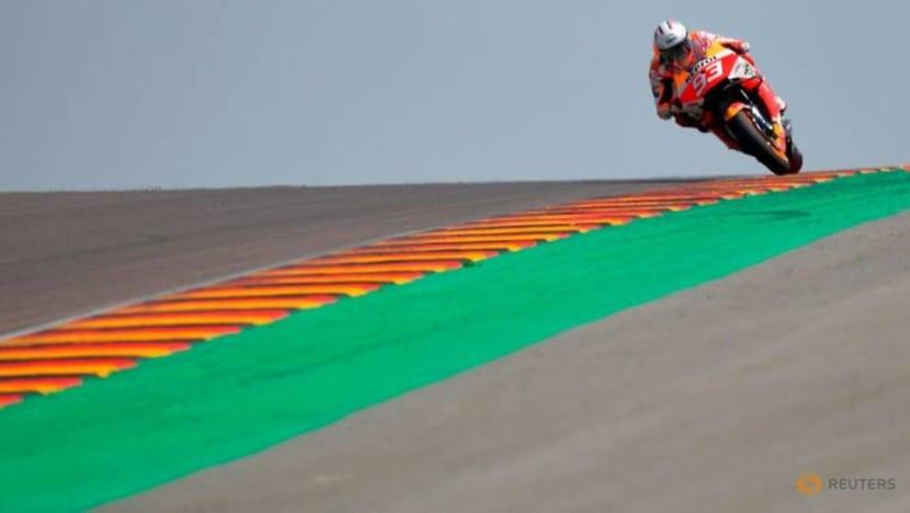 Motorcycling-Marquez walks away from big crash at Assen