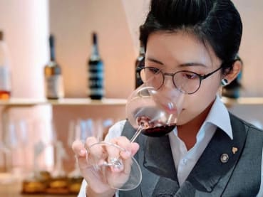 She's the resident wine expert in one of the world's best restaurants in Singapore