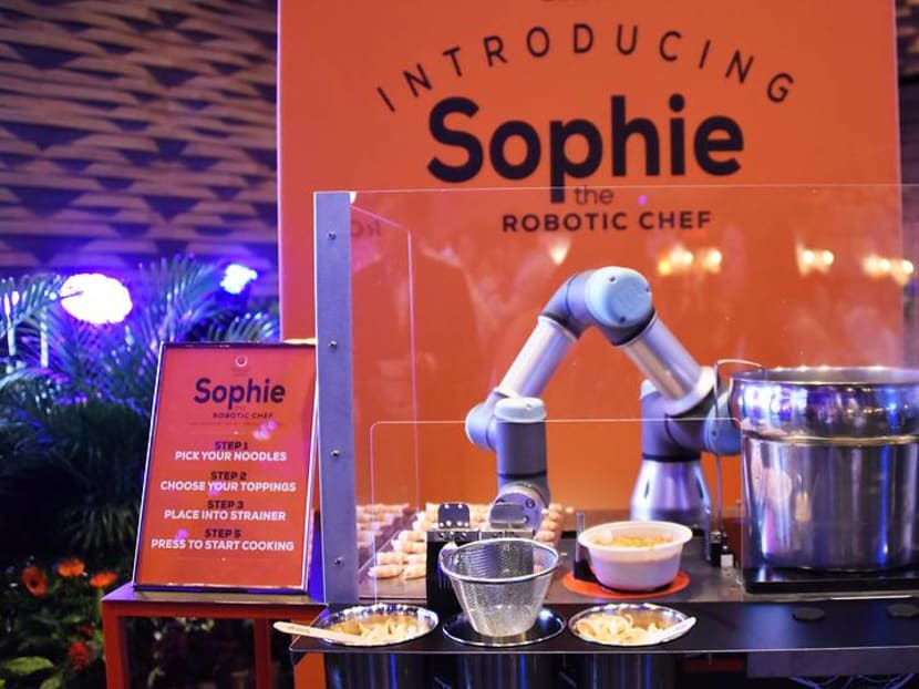 Meet the laksa robot for hire that dishes out 80 bowls an hour