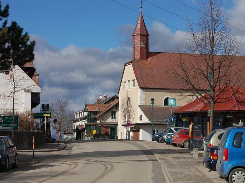 An Austrian tourist village named Saint Corona draws unwanted attention