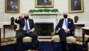 Joe Biden, Boris Johnson talk trade and trains in White House meeting