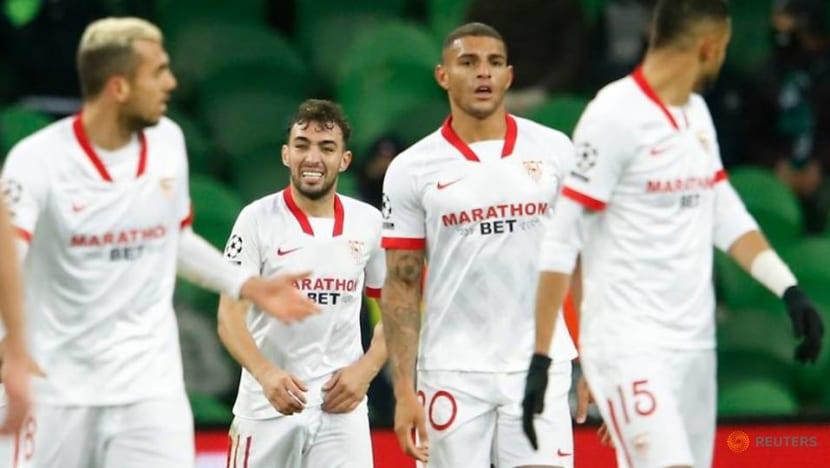 Football: Sevilla reach Champions League last 16 with 2-1 win at Krasnodar