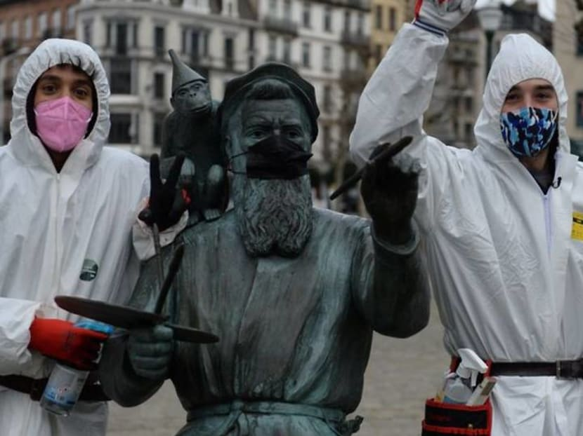 Brussels 'COVID boys' take on mission to police pandemic rules
