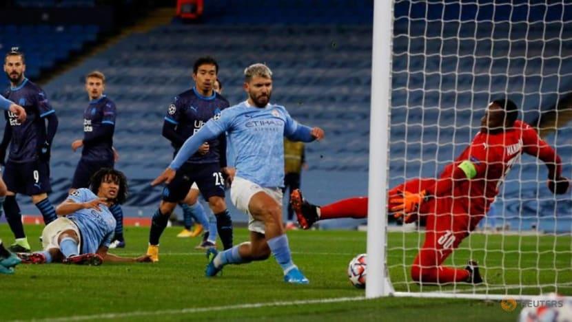 Football: Aguero on target as Man City sink Marseille