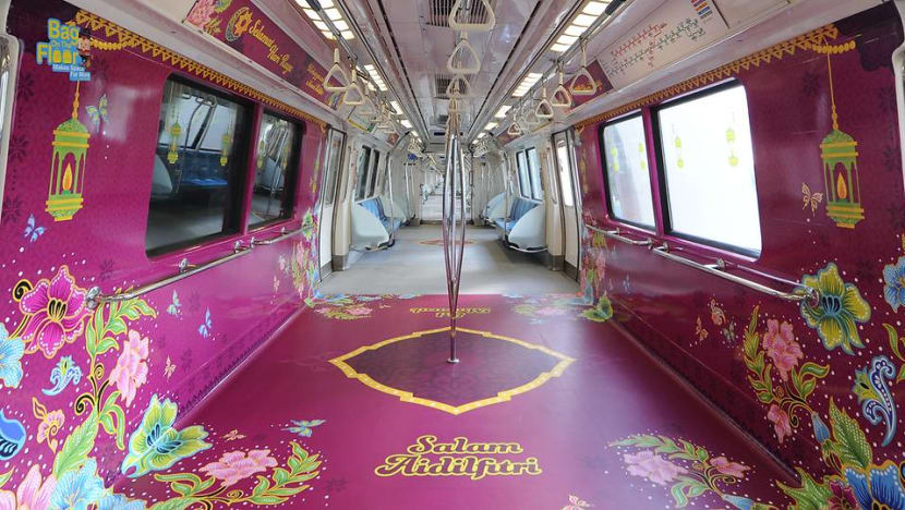 In pictures: Hari Raya-themed MRT trains, buses spread festive spirit