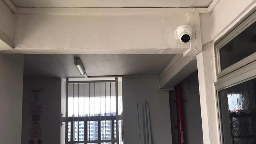 Installing CCTVs outside HDB flats is illegal, but more home owners are doing so, say merchants