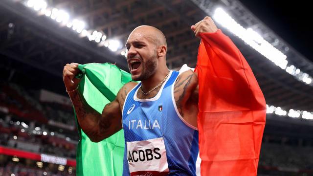 意大利飞人摘100米短跑金牌