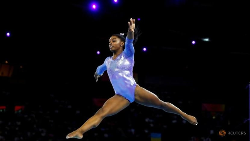 Biles warms up for Tokyo by claiming seventh US title