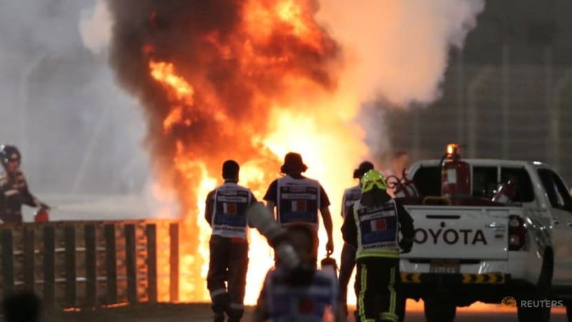 Formula 1 driver Grosjean leaves Bahrain hospital after fireball crash