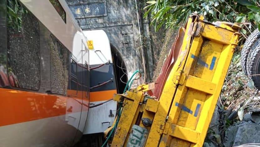 Taiwan train crash kills dozens in deadliest rail tragedy in decades