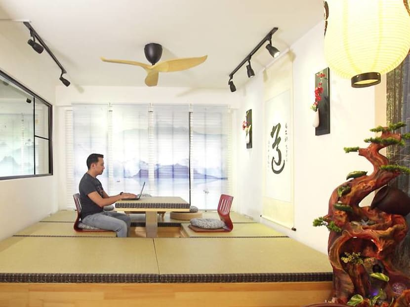 Transforming a 990 sq ft HDB flat into a 'little Japan' – complete with an onsen