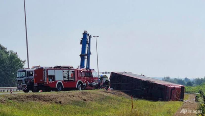 Bus swerves off road in Croatia; 10 killed, 44 injured
