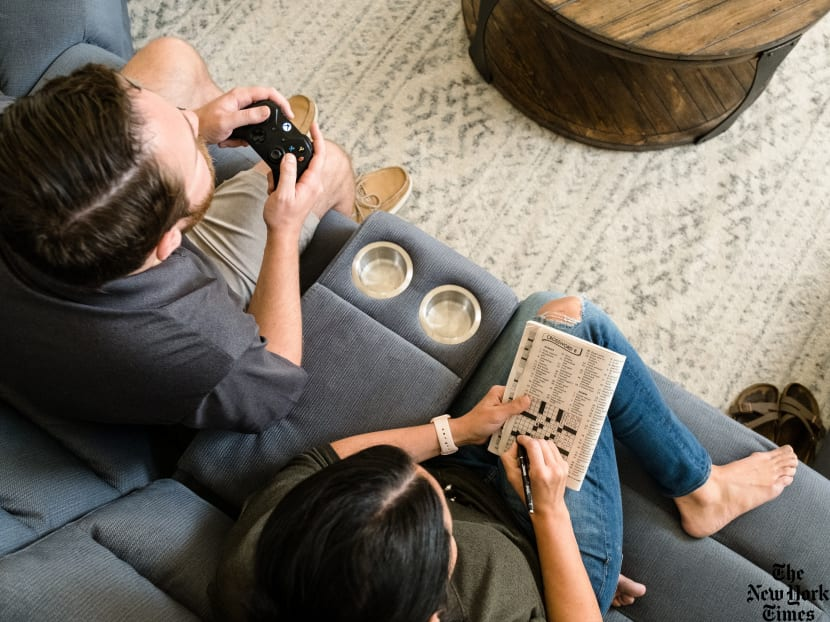 In the same room but doing different things? It can be a sign of a secure relationship