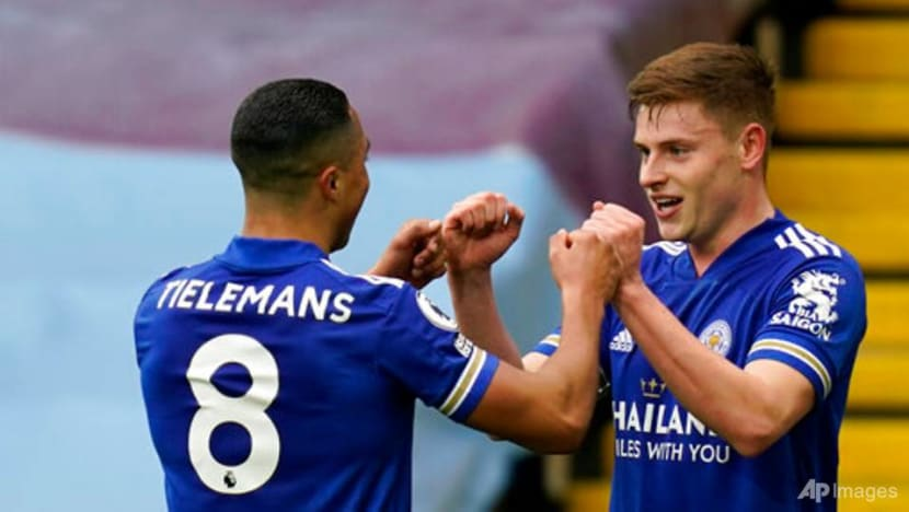 Football: Leicester go second with 2-1 win over Villa