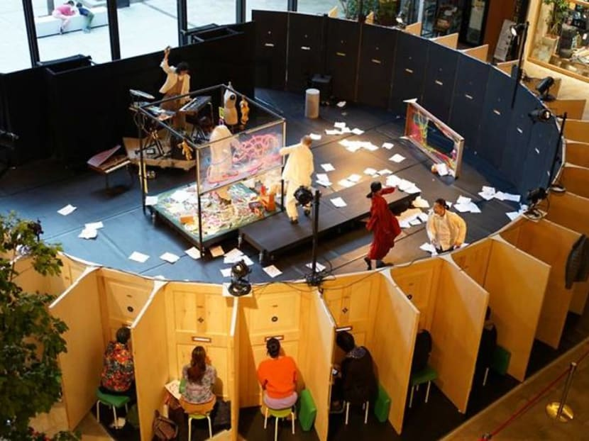 Through the mailbox slot: Japanese theatre offers new viewing experience